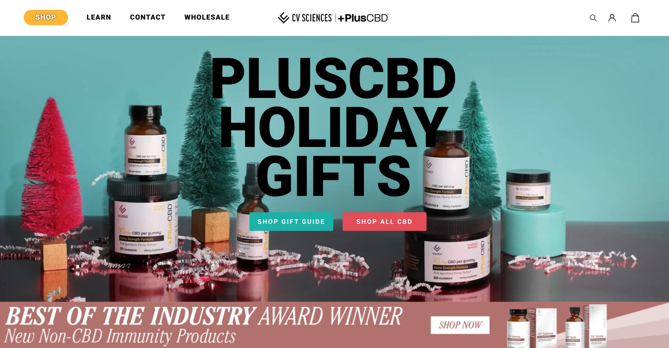 Plus CBD Oil main page
